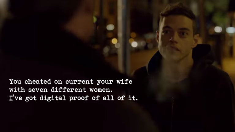 mr robot quote i've got digital proof of all of it