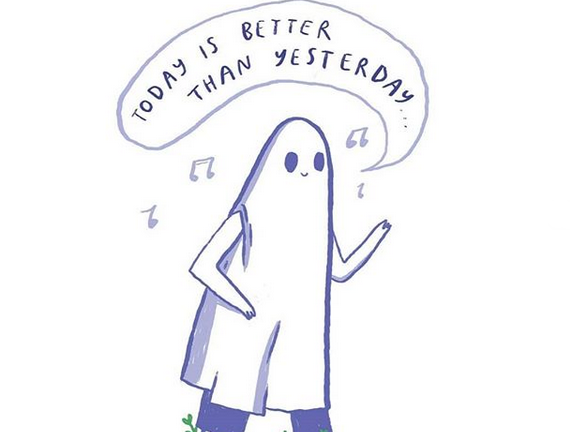 today is better than yesterdau sad ghost club